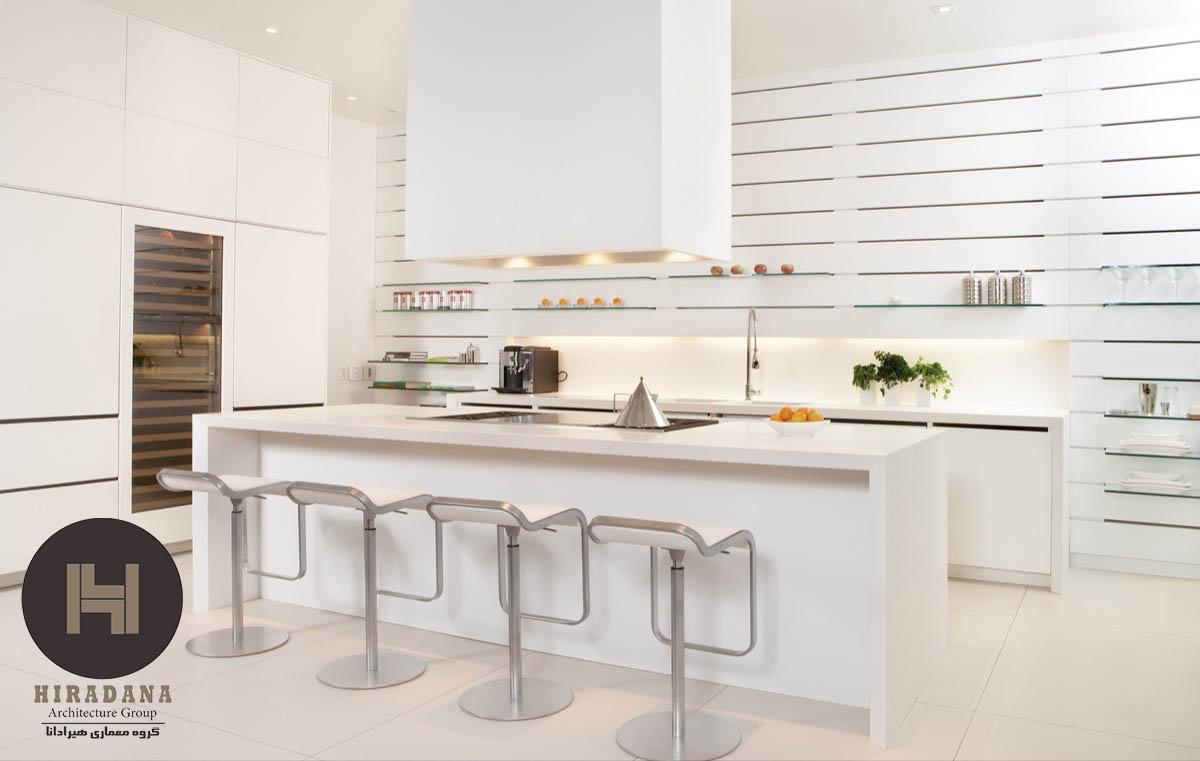 طراحی دکوراسیون داخلی آشپزخانه با ایده های جدید در جزیره